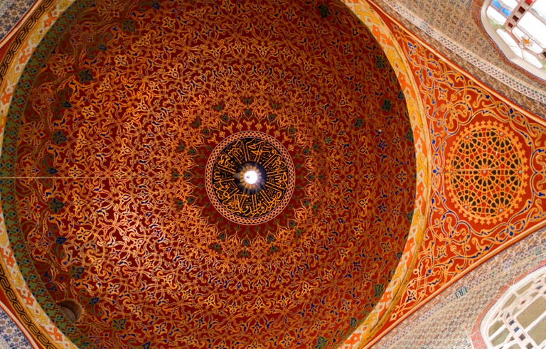 Dome ceiling of the Imperial Hall Topkapi Palace TURKEY