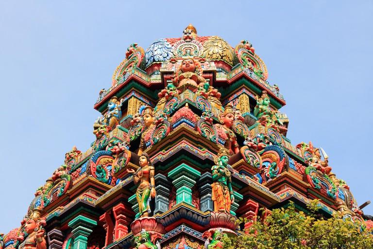 Bangkok, Thailand, Southeast Asia - Sri Mariamman Hindu temple.