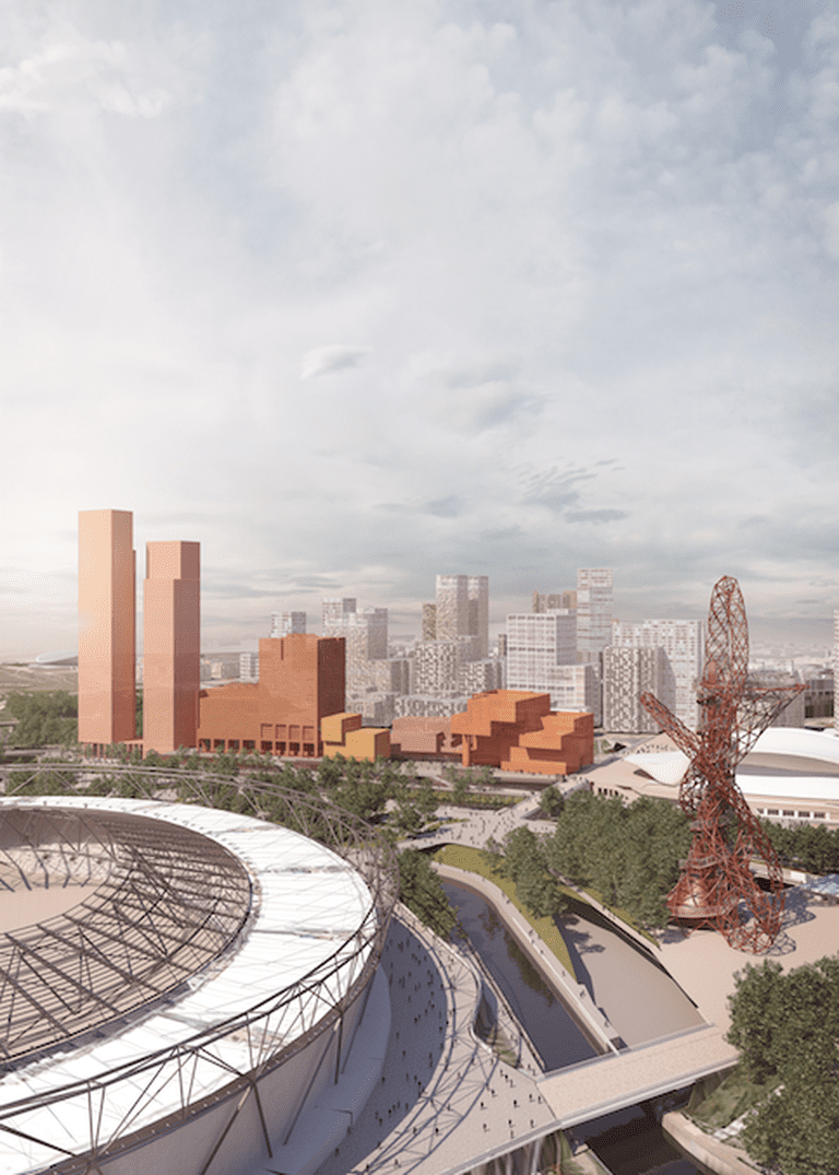 Proposed plan, featuring Olympic Stadium and the ArcelorMittal Orbit | Courtesy of LLDC