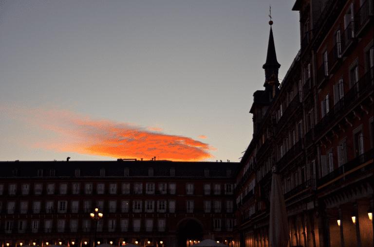 Plaza Mayor at dusk