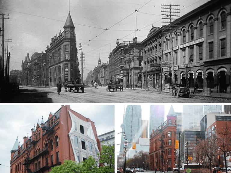 Gooderham Building 1890s | Public Domain/Wikicommons | Gooderham Building in Toronto, Ontario | © Jason Baker/Flickr | Gooderham Building - Toronto 2012 | © Anthonyd3ca/Wikicommons