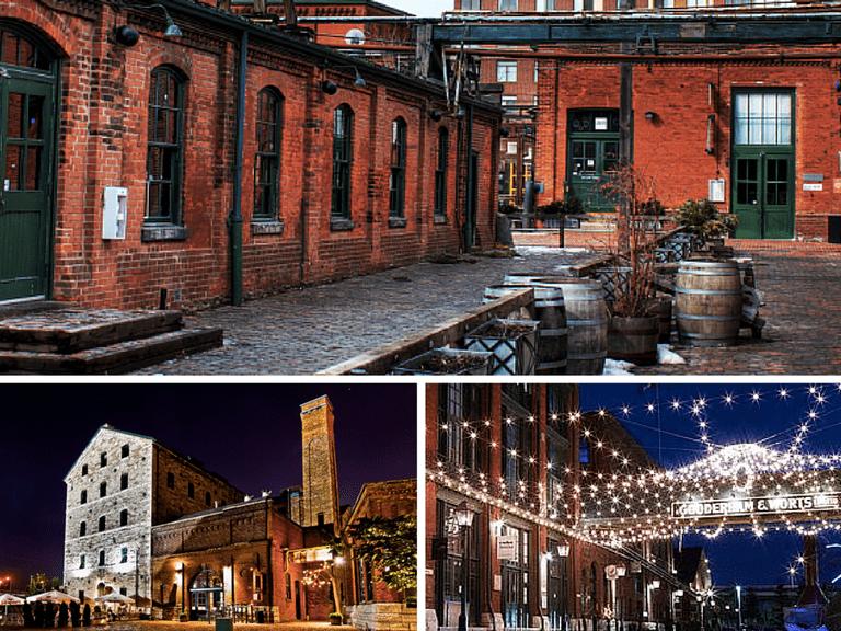 Distillery District, Toronto | © Ryan /Wikicommons | Stonehouse Distillery at the Distillery District | © Benson Kua/Wikicommons | Distillery District at night | © Neguev/Wikicommons