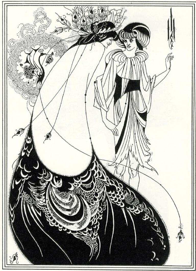 """""""The Peacock Skirt"""", illustration by Aubrey Beardsley for Oscar Wilde's play Salomé (1892)"""