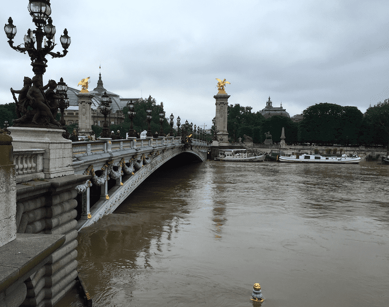 High waters under Pont Alexandre III | © Lauren Johnston