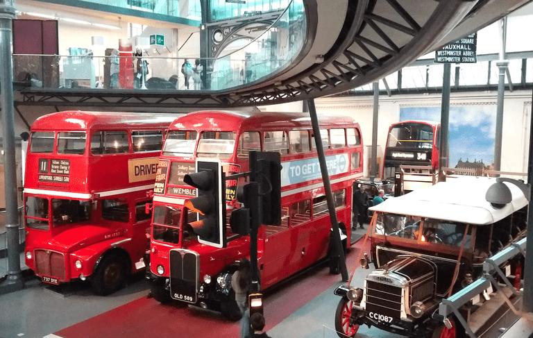 Classic motors in the London Transport Museum's 'Transportorium' | © Christopher M Little