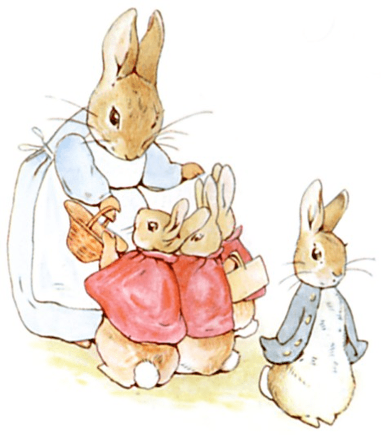 Illustration from The Tale of Peter Rabbit | © Project Gutenberg / WikiCommons
