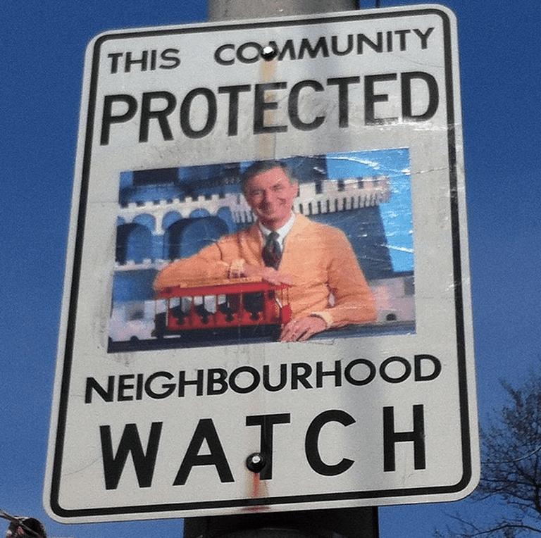 Mr. Rogers' Neighbourhood (Watch)   Courtesy of Andrew Lamb