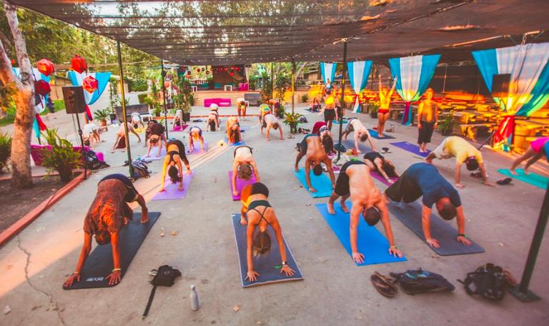 Deep House Yoga Set ©Aaron Glassman/Courtesy of The Confluence