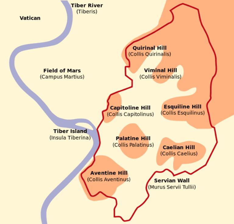 The Seven Hills of Rome | © WikiCommons/Renata3
