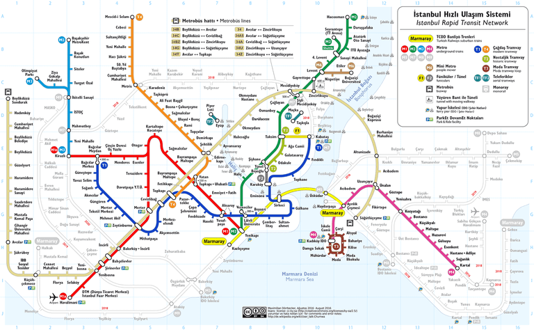 Istanbul Rapid Transport Map/Wikimedia Commons