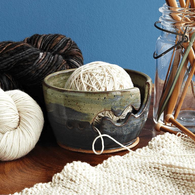 Make Waves Yarn Bowl by artisan Patricia Bridges.