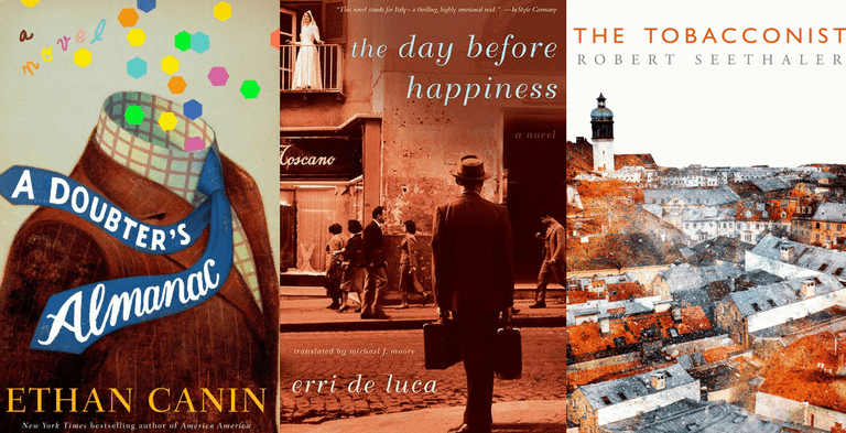 The cover images for the winner, along with two other nominees. | Courtesy of Other Press, Random House, and Picador