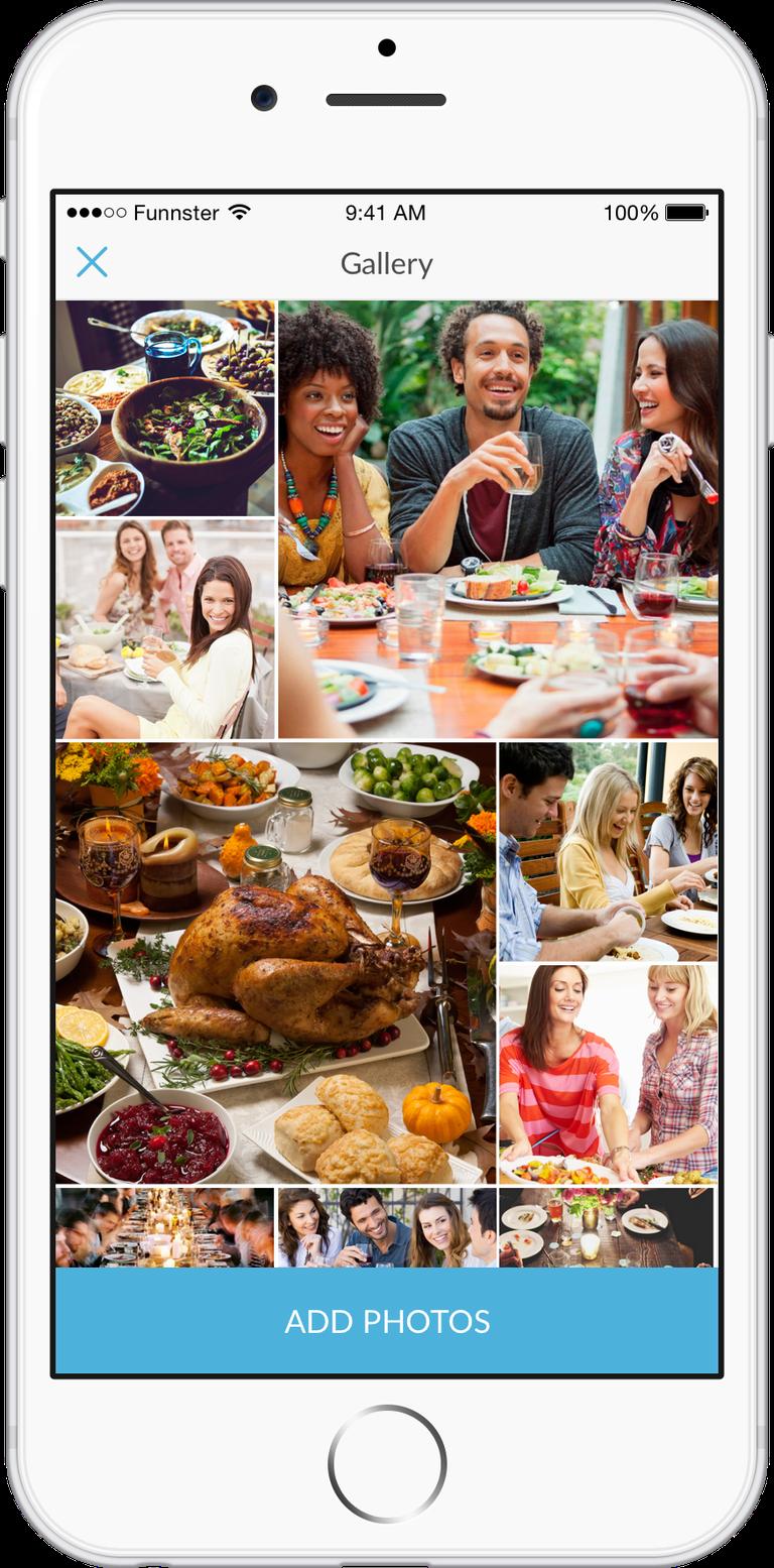 Thanksgiving and Friendsgiving celebrations on Funnster. | Courtesy Funnster.