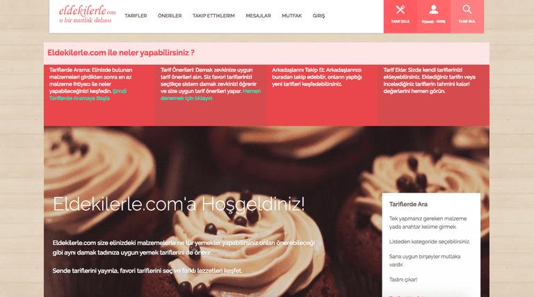 Screenshot of Eldekilerle Website