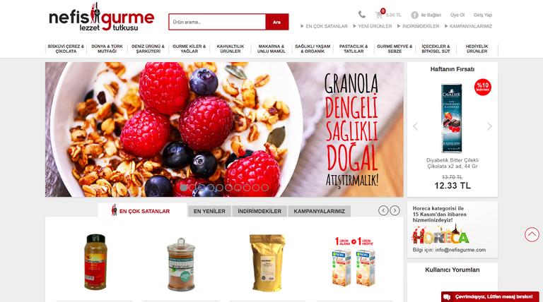 Screenshot of Nefis Gurme website
