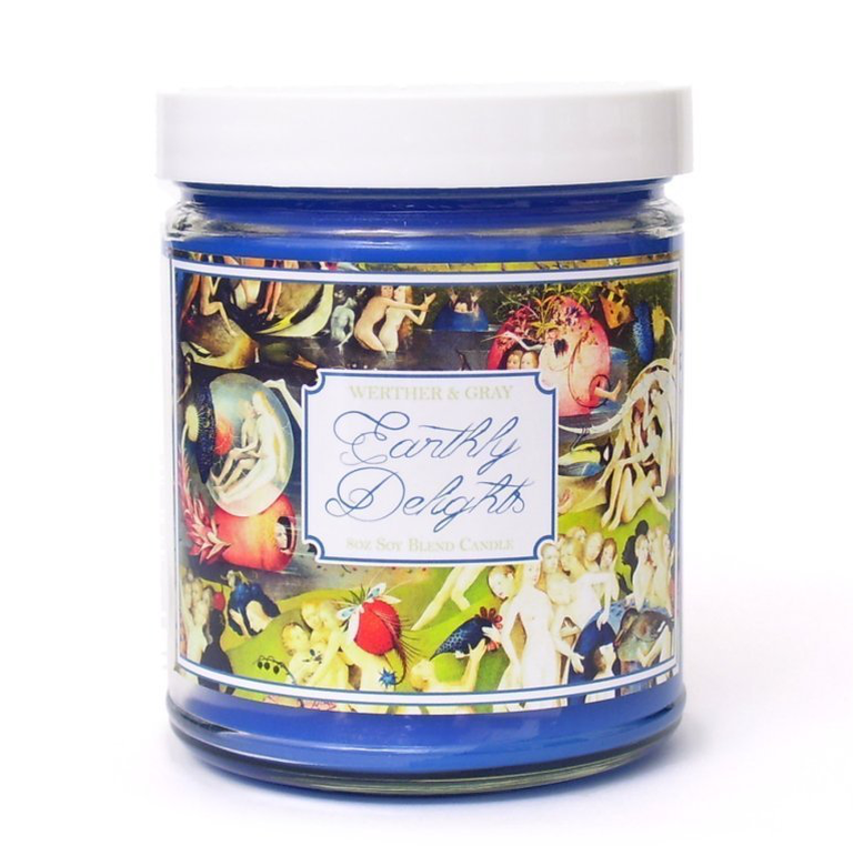 Eight oz 'Earthly Delights' scented candle, via Amazon