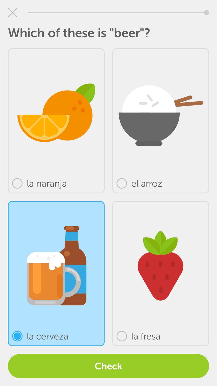 The Duolingo app