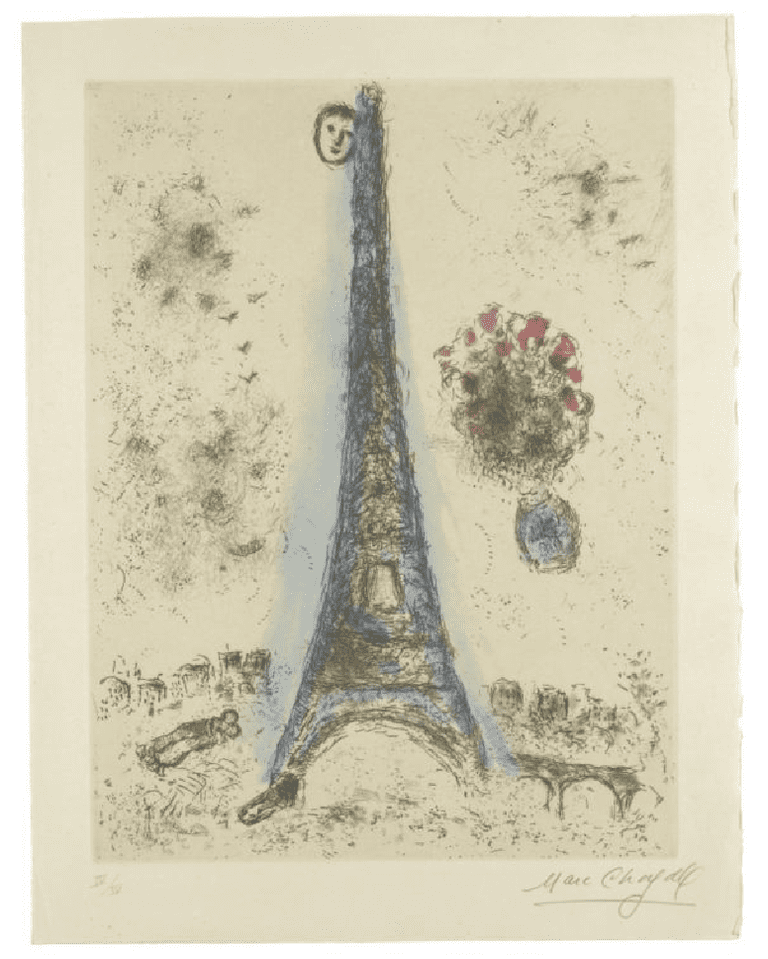 Marc Chagall, Etching from 'Celui Que Dit Les Choses SansRien Dire' Album - IV   Courtesy of cea +/Flickr