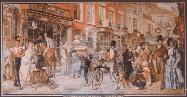 John Cadbury's first shop on Bull Street, Birmingham