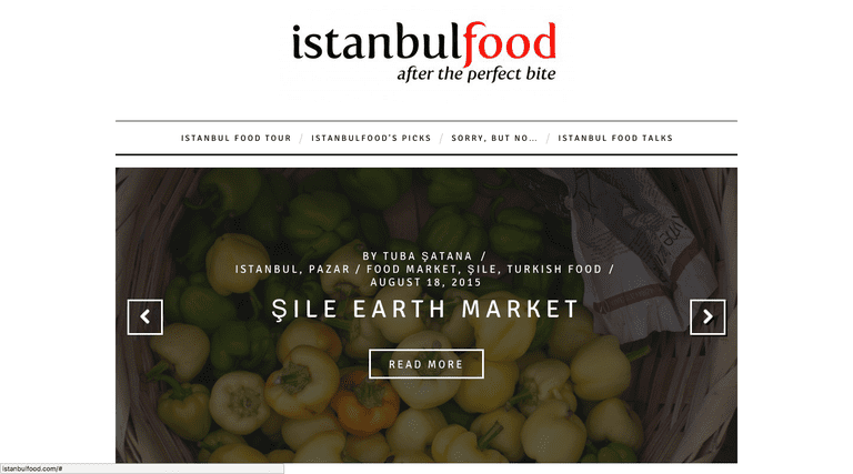 Screenshot of Istanbul Food