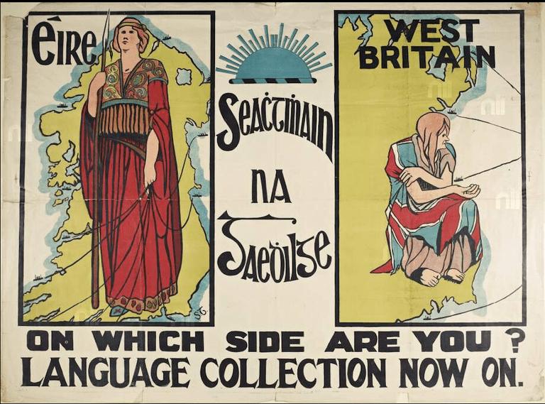 1913 Seachtain na Gaeilge poster | © Frances Georgiana Chenevix Trench/WikiCommons