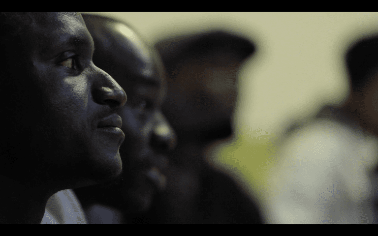 Lamine at one of the first union meetings | Courtesy of Otoxo Productions