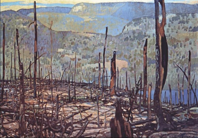 Fire Swept Algoma (1920) by Frank Johnston |Courtesy WikiArt.org
