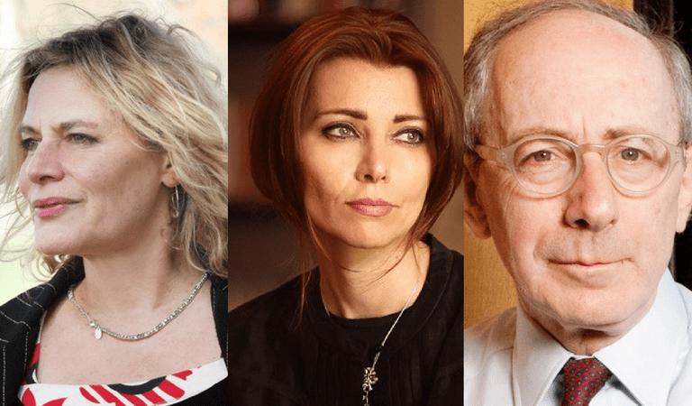 (l-r) Deborah Levy, Elif Şafak, and Malcolm Rifkind | Courtesy of Jewish Book Week