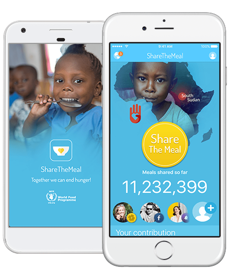 An app that gives you the chance to fight against world hunger | © ShareTheMeal/ShareTheMeal