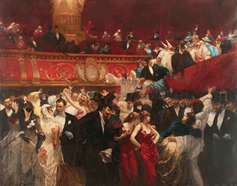 Charles Hermans' Bal Masqué (1880) │© Charles Hermans / Wikimedia Commons