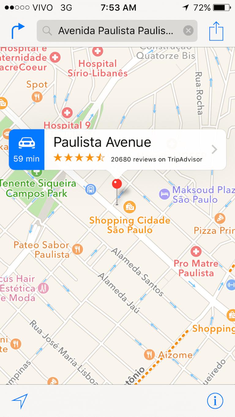 Google map app © Lise Alves