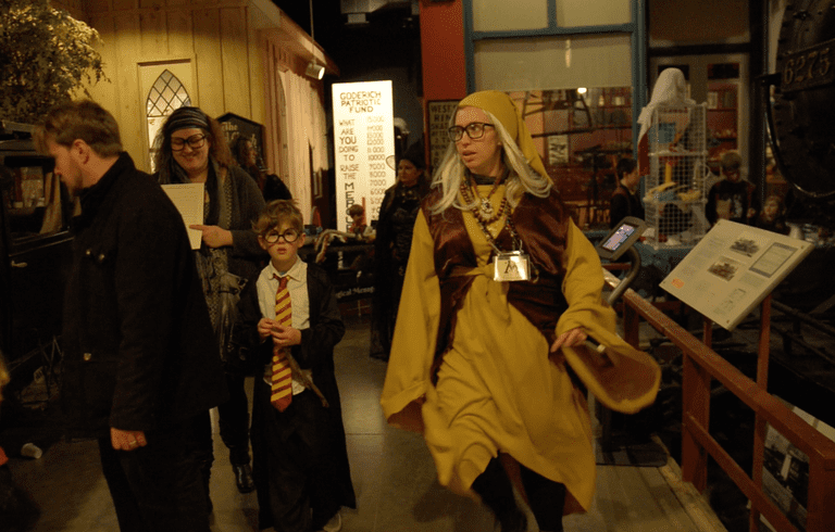 Witches & wizards at the 2016 Harry Potter &the Transformed Town event | Courtesy of HP Fan Fest