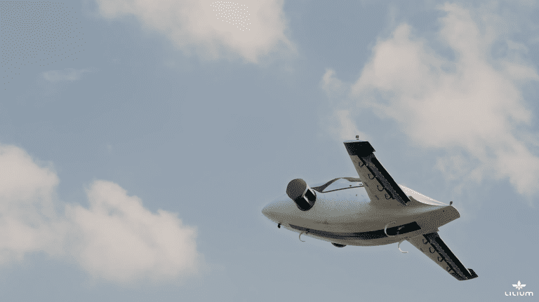 An image from the test flight | Courtesy Lilium