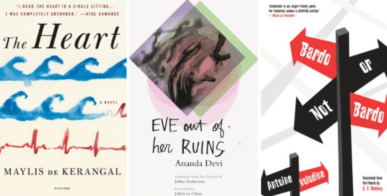 covers of the nominees courtesy of Picador, Deep Vellum, and Open Letter