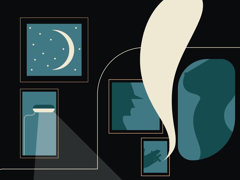 """""""The Voyeur,"""" Illustration by Michaela Pointon © Culture Trip"""
