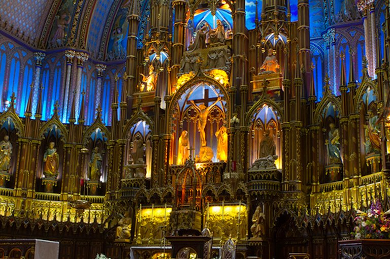 Inside the Notre-Dame Basilica of Montreal