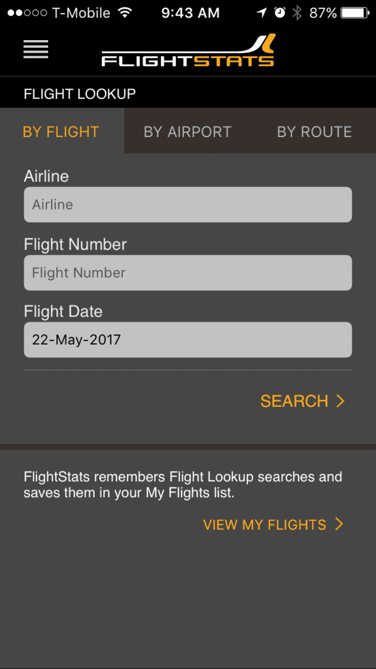 Flightstats keeps you up to date on flight statuses