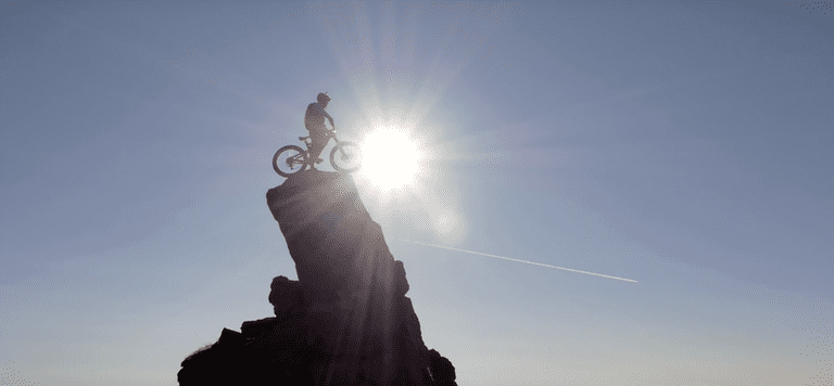 Still From Danny MacAskill's 'The Ridge' On The Isle Of Skye