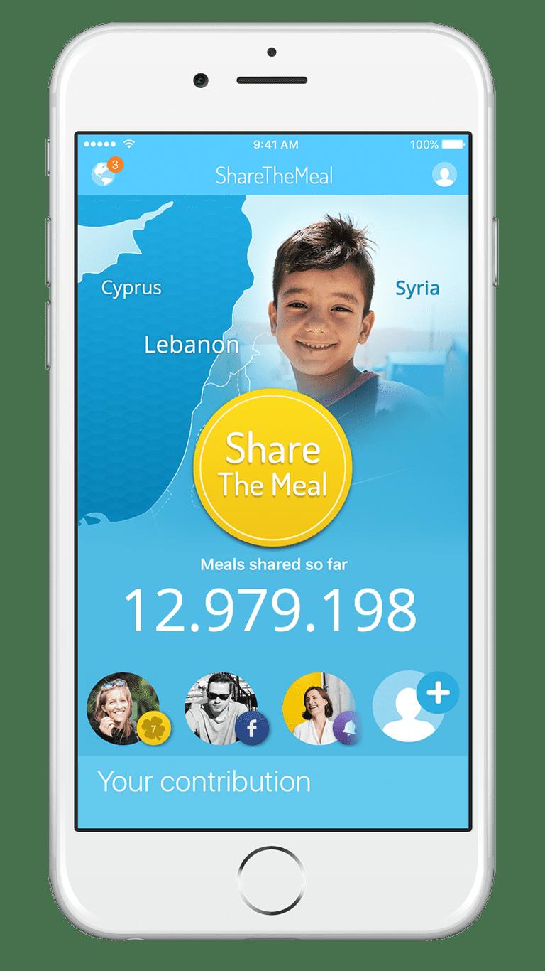 ShareTheMeal Main Screen
