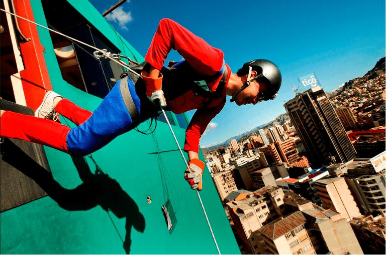 Abseiling in La Paz