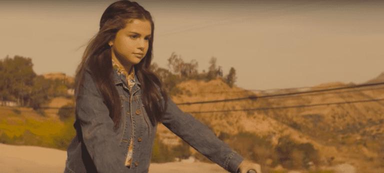 "Heading to school in the badlands, ""Selena Gomez: Bad Liar"""