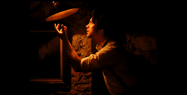 "Gordon Palagi in ""The Cooping Room: Who Killed Edgar Allan Poe?"""