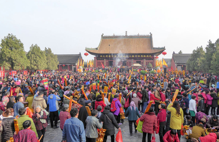 "The temple fair at Zhoukou in North China, ""The Story of China"""
