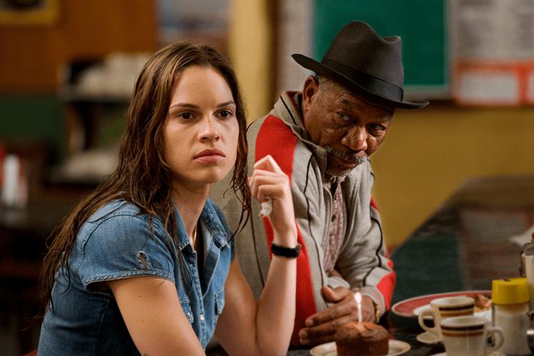 Hilary Swank and Morgan Freeman in Million Dollar Baby