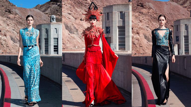 Ani Alvarez Calderon collection at Jessica Minh Anh's Hoover Dam show