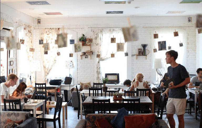 Almost any cafe in Moscow has free wifi available