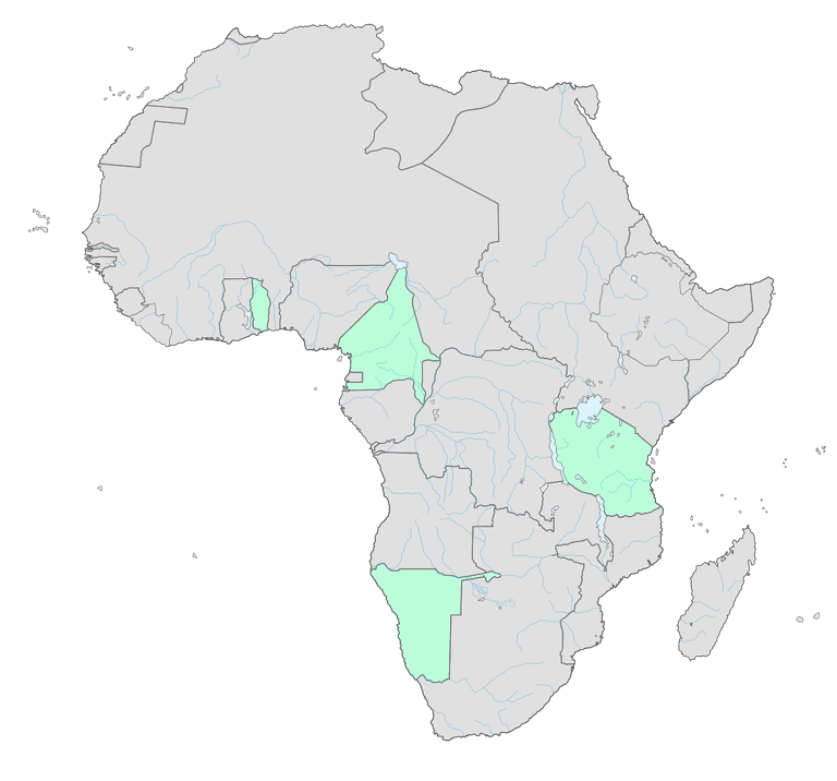 Map of German possessions in colonial Africa as in 1913