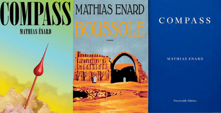 L-R: the covers of Compass's American, French and British editions