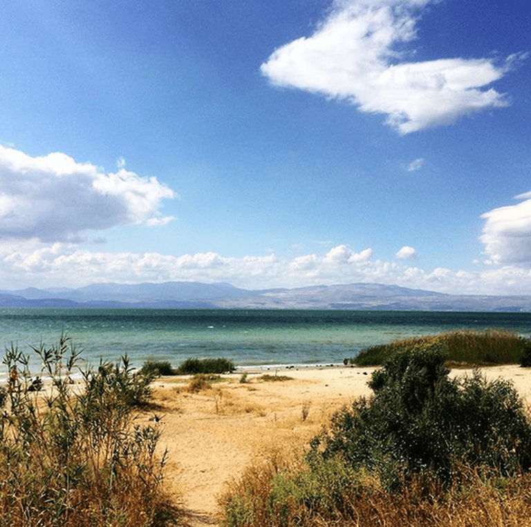 A view of the Kinneret. Photo: Becca Gomby @bgombz