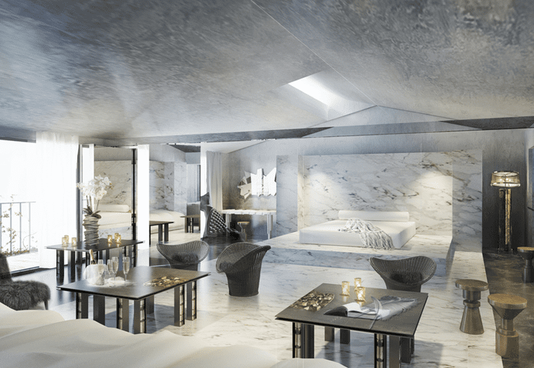 The marble penthouse